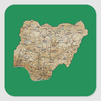 Nigeria Map Sticker