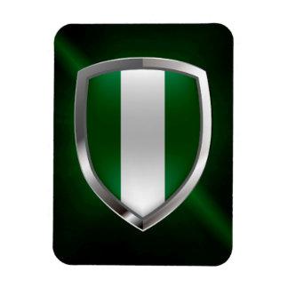 Nigeria Metallic Emblem Magnet