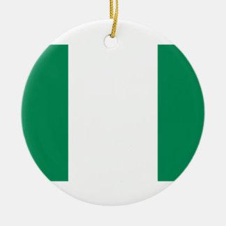 Nigeria National World Flag Ceramic Ornament