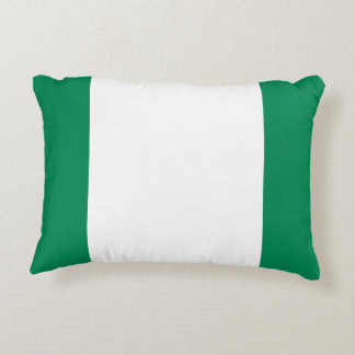 Nigeria National World Flag Decorative Pillow