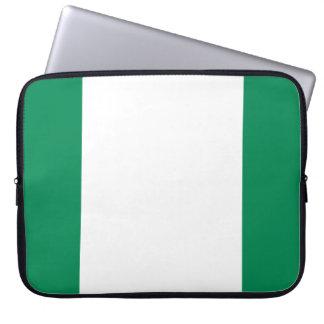 Nigeria National World Flag Laptop Sleeve