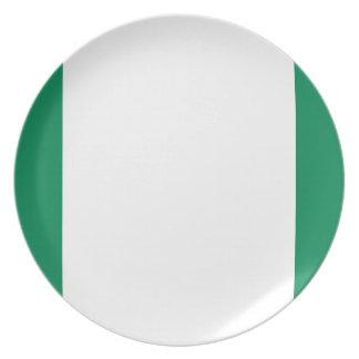 Nigeria National World Flag Plate