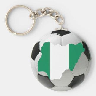 Nigeria soccer basic round button keychain