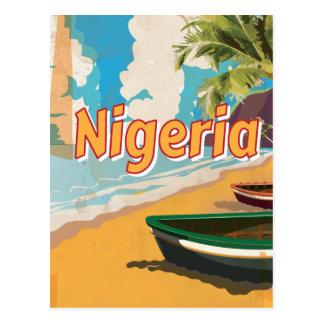 Nigeria Vintage vacation Poster Postcard