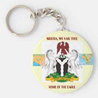 Nigeriaarms21, mnigeria, mapafrica, NIGERIA, WE... Keychain