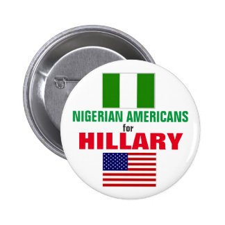 Nigerian Americans for Hillary 2016 2 Inch Round Button