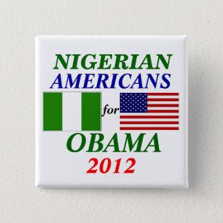 Nigerian americans for Obama 2 Inch Square Button