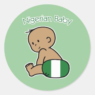 Nigerian Baby Classic Round Sticker