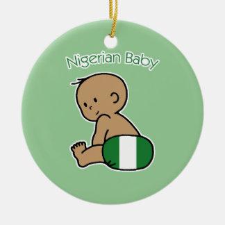 Nigerian Baby Round Ceramic Ornament