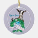 Nigerian Dwarf Goat Wreath Holiday Ornament