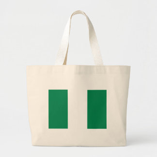 Nigerian flag large tote bag