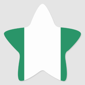 Nigerian flag star sticker