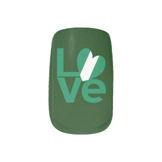 Nigerian LOVE Green Minx Nail Art