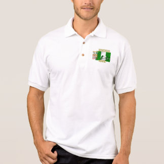 Nigerian love I heart Naija hearrt flag of Nigeria Polo Shirt