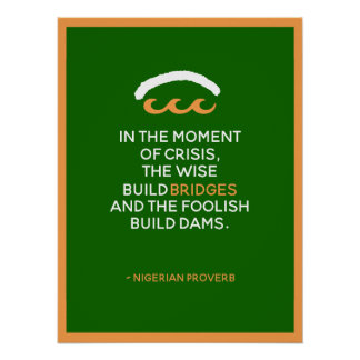 Nigerian Proverb Poster