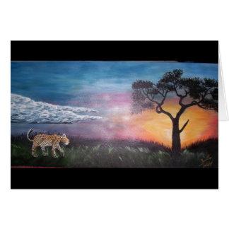 Nigerian Sunset Card