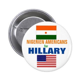 Nigerien Americans for Hillary 2016 2 Inch Round Button