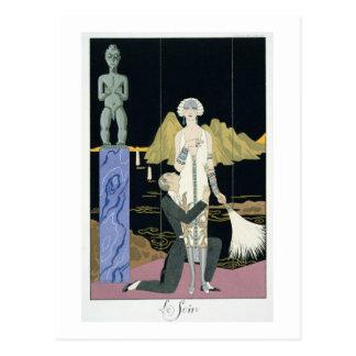 Night, 1925 (pochoir print) postcard