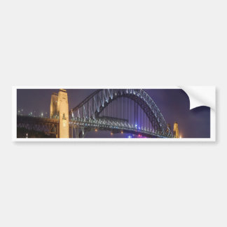 night and beauty Sydney Harbour Bridge Bumper Sticker