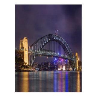 night and beauty Sydney Harbour Bridge Postcard