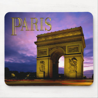 Night at Arc de Triomphe Paris Mouse Pad