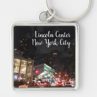 Night at Lincoln Center NYC New York Photography Keychain