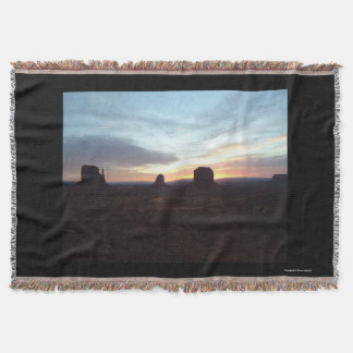 Night at Monument Valley throw