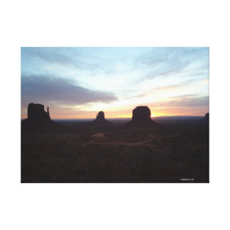 Night at Monument Valley wrapped canvas