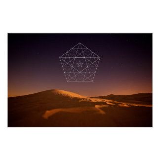 Night at the desert poster