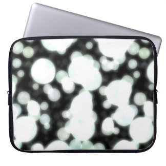 Night Background and Bright Light Circles Laptop Sleeve