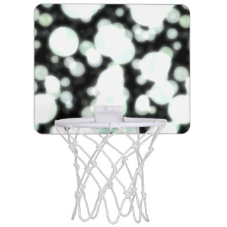 Night Background and Bright Light Circles Mini Basketball Hoop