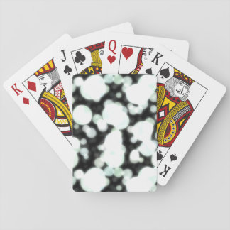 Night Background and Bright Light Circles Playing Cards