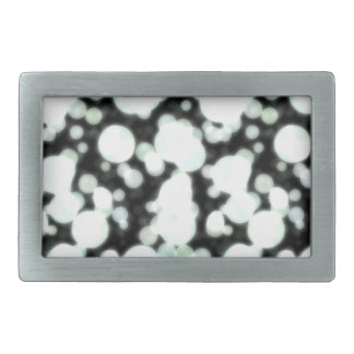 Night Background and Bright Light Circles Rectangular Belt Buckles