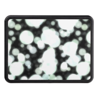Night Background and Bright Light Circles Trailer Hitch Cover
