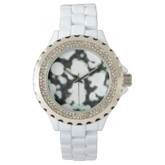 Night Background and Bright Light Circles Watch