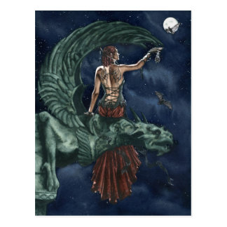 Night ballet postcard