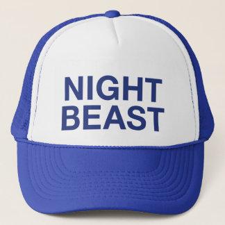 NIGHT BEAST fun slogan trucker hat
