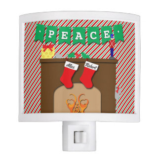 Night Before Christmas • Cute Mouse • 2 Stockings Night Light