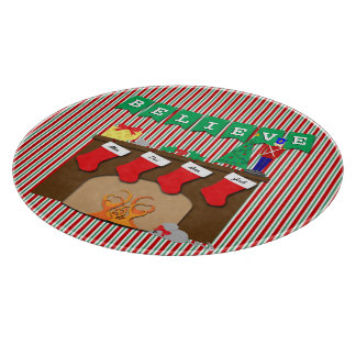 Night Before Christmas • Fireplace • 4 Stockings Cutting Boards