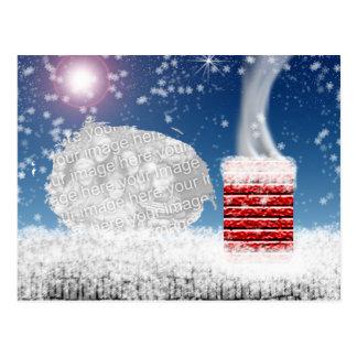 Night Before Christmas Template Postcard