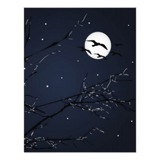 Night Birds Landscape Letterhead
