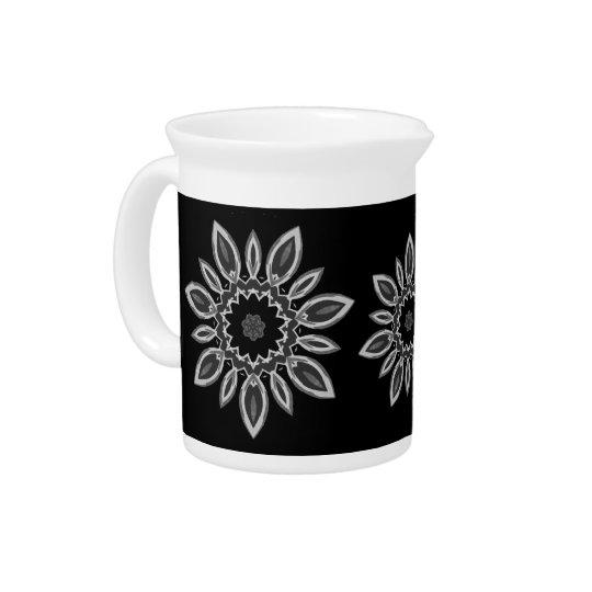 """""""Night Bloom"""" 19oz Porcelain Beverage Pitcher"""