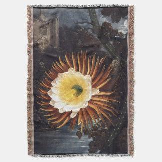 Night-blooming Cereus Throw Blanket