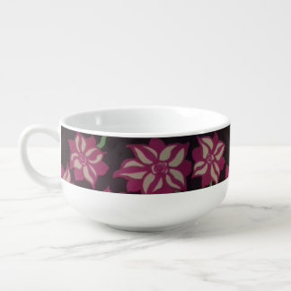 Night Blooming Dahlia Soup Bowl