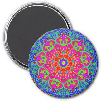 Night Blooming Flower Mandala Style Magnet