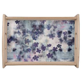 Night Blossom Floral Breakfast Tray