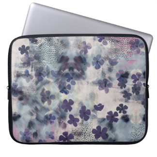 Night Blossom Floral Laptop Sleeve