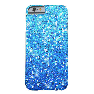 Night Blue Glitters Sparkles Texture Barely There iPhone 6 Case