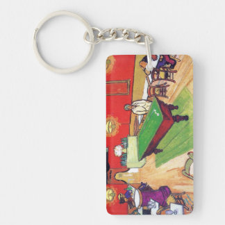 Night Cafe in Arles by Vincent Van Gogh Double-Sided Rectangular Acrylic Keychain