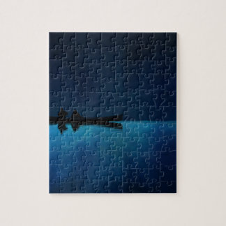 Night Canoe Jigsaw Puzzle